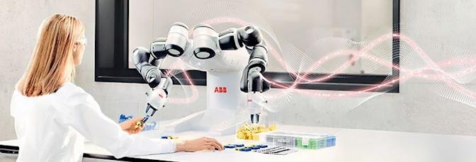 YuMi, az első emberekkel együttműködő, kétkarú ipari robot - Kép: ABB