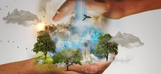 a Föld egy ember kezében