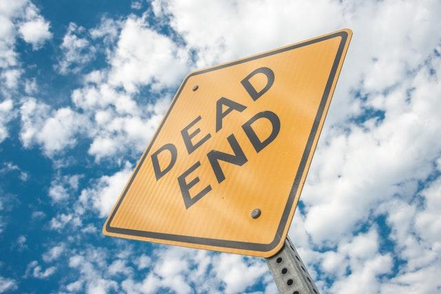 dead end tábla