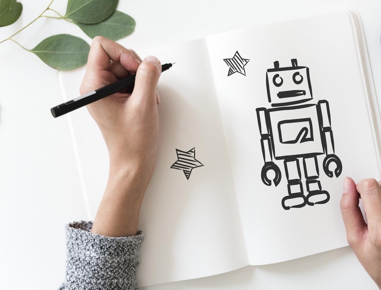 rajzolt robot