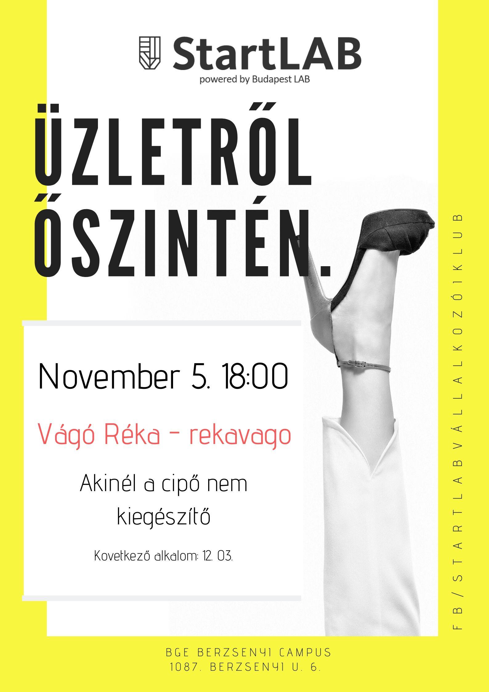 StartLAB Vágó Réka plakát