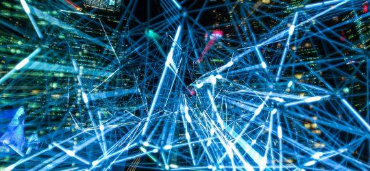 fénycsíkokból összeálló hálózat